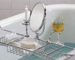 Chrome bathtub caddy