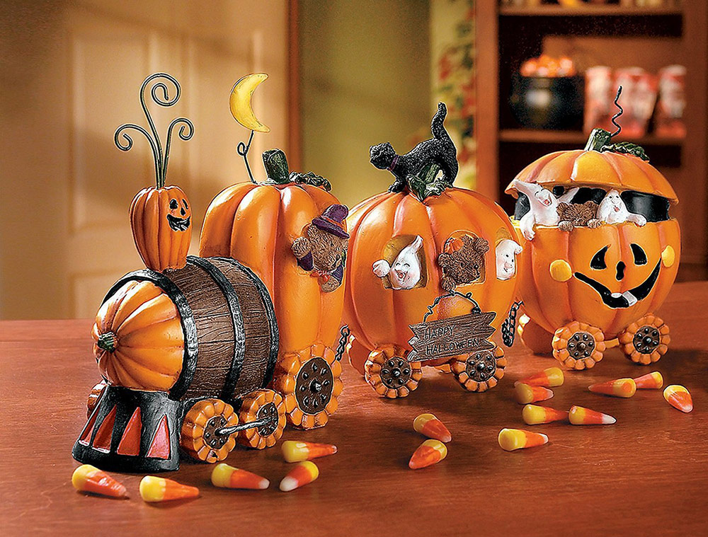 express train halloween pumpkin decoration adorable home. Black Bedroom Furniture Sets. Home Design Ideas