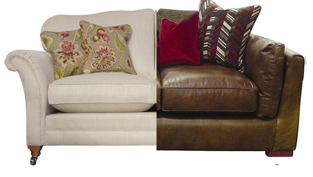 Fabric vs leather sofas