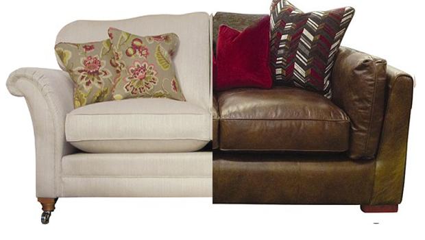 Fabric vs leather sofas
