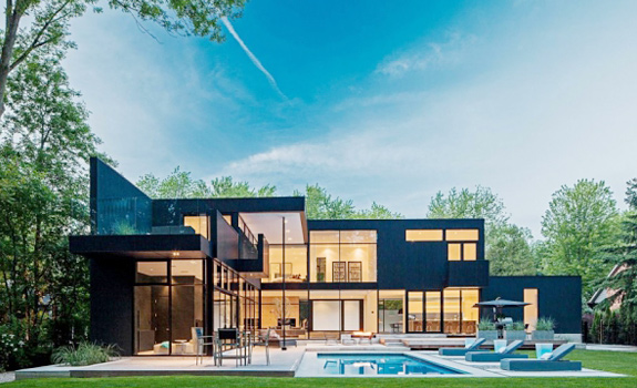 Modern Glass House in Ontario Adorable Home