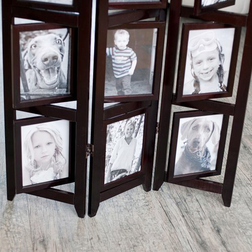 This photo frame room divider by Hayneedle will look ...