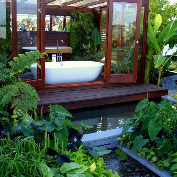 Relax in a garden bathroom