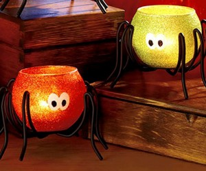 Spider Halloween candle holders
