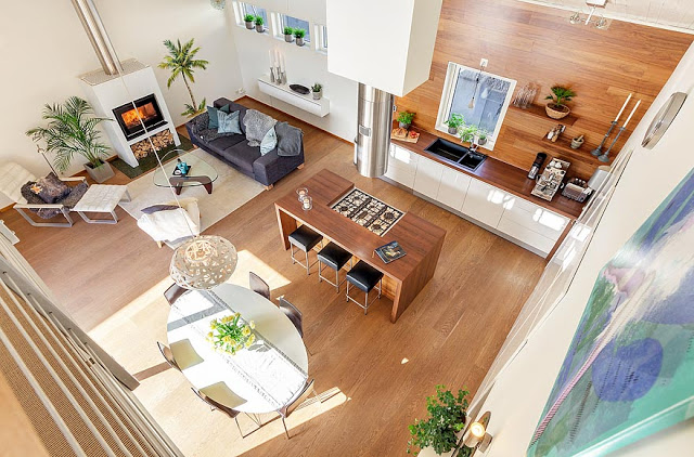 Amazing interior design of a Scandinavian house