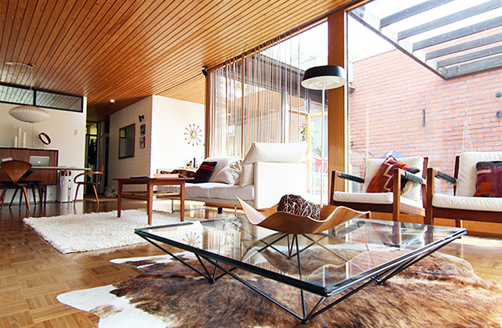 Beautiful mid century home after renovation
