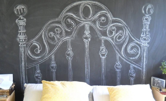 Creative bedroom headboard