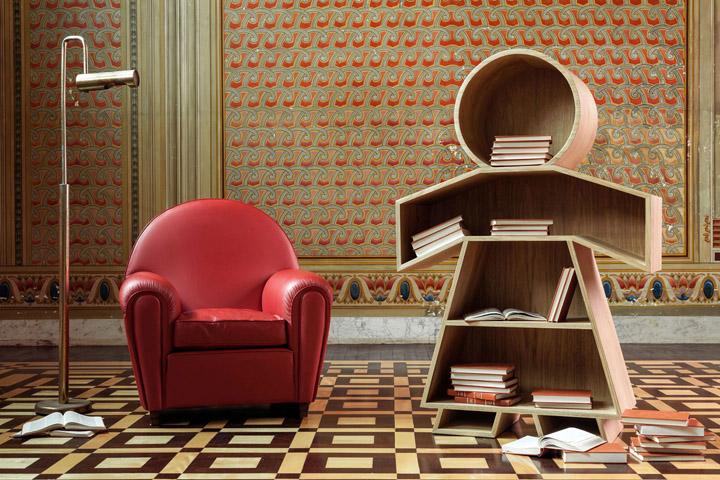 Cute design in a creative bookshelf