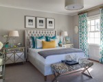 Elegant bedroom with a lovely color scheme