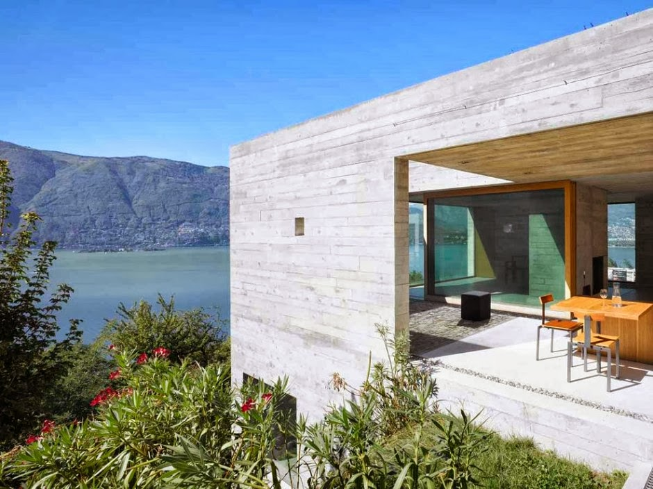 A stunning concrete house