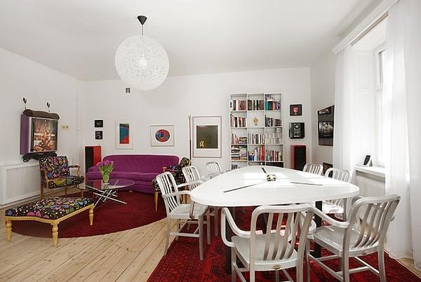 Simple Scandinavian duplex apartment
