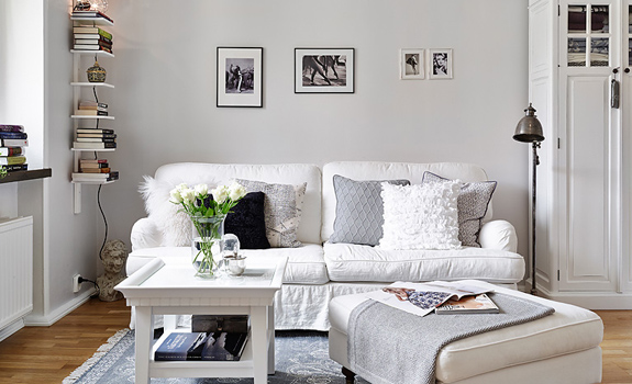 Small white apartment