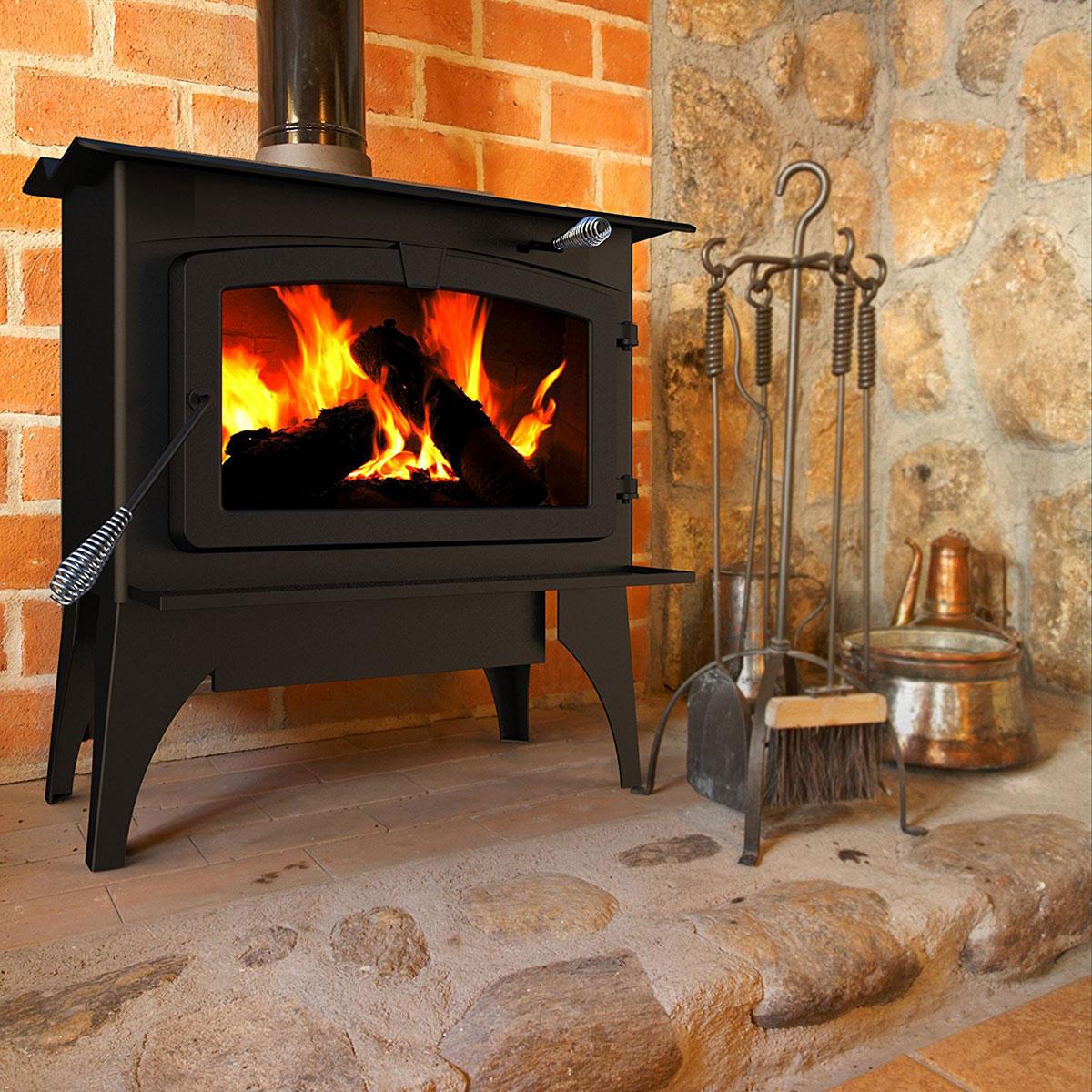 Wood burning heating stove