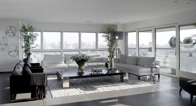 Stunning monochrome apartment