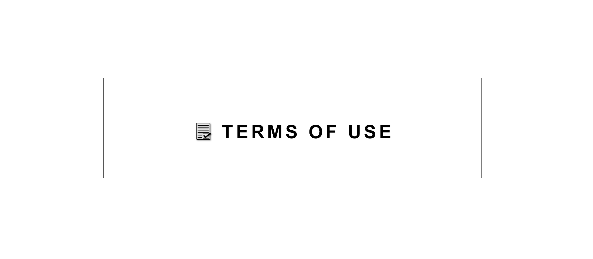 Terms of Use sign