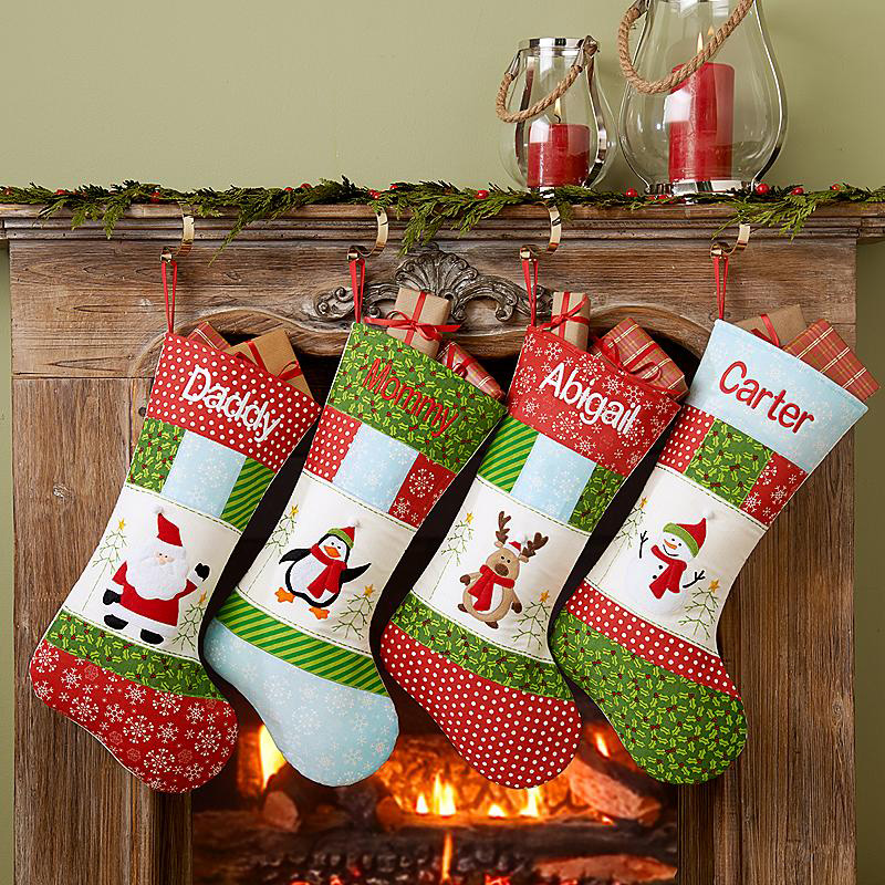 Christmas Patchwork Stocking