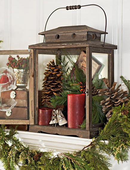 Decorating with christmas lanterns adorable home - How to decorate your home ...