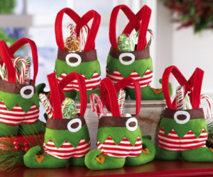Christmas treat bags with elf design