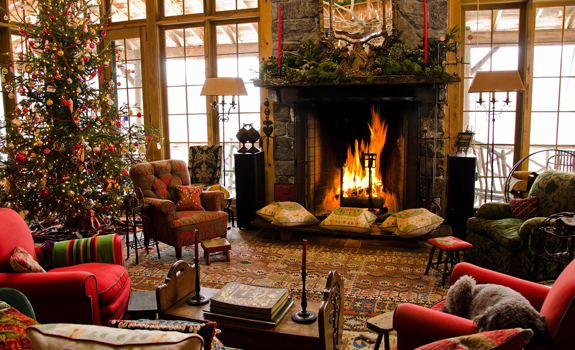 Country Christmas interior