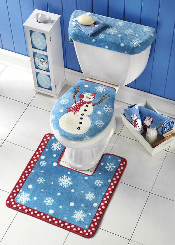 Funny Snowman Bathroom Set