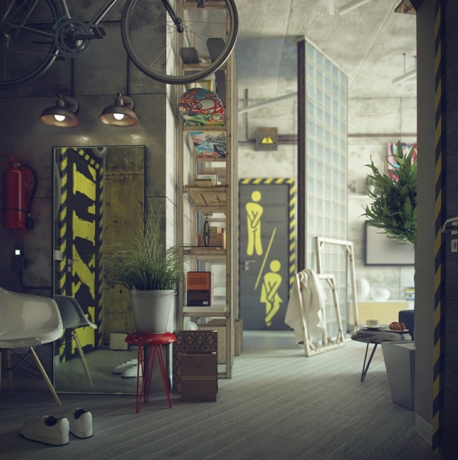 Industrial style shines through in Russia