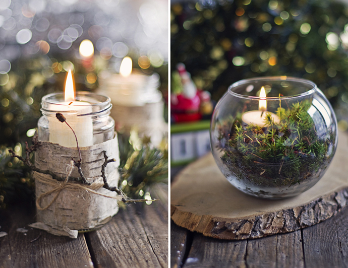Natural christmas decorations adorable home - Decoration table nature ...