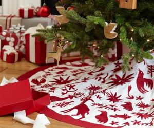 Patterned Christmas tree skirt