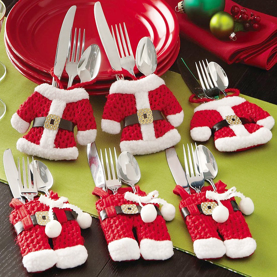 Santa-Suit-Silverware-Holders