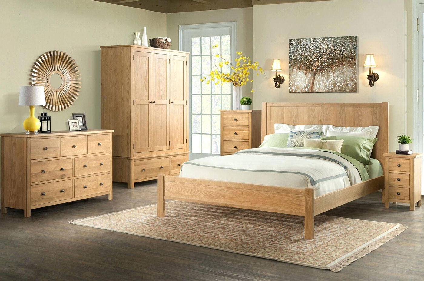 Bright bedroom furniture