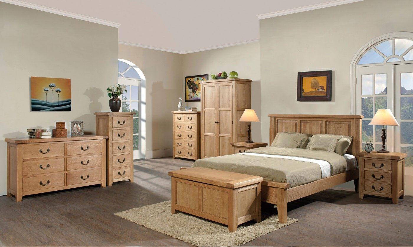 Wooden bedroom furniture set