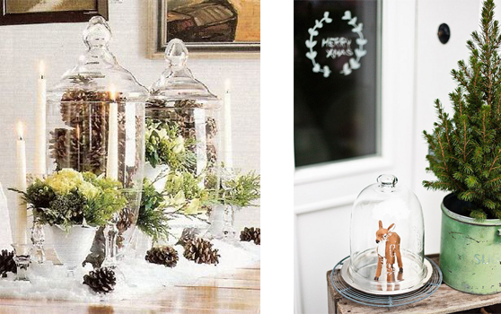 Decorating with glass jars