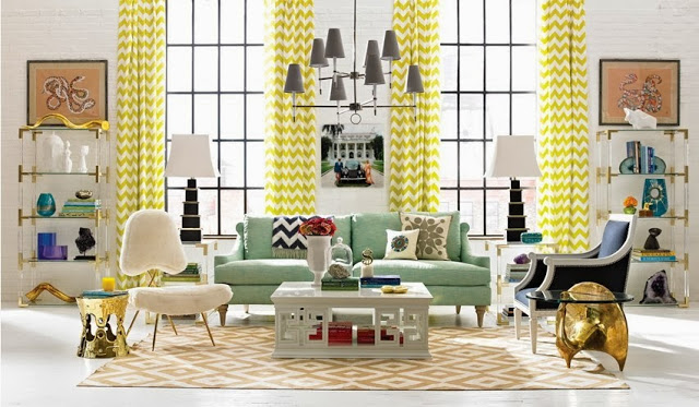 Colorful interiors by Jonathan Adler