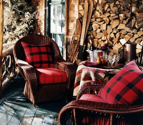 Decorating with plaid pattern