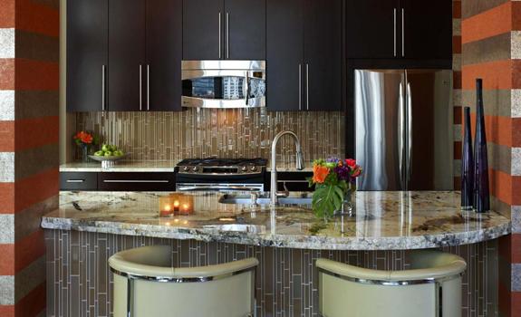 Stylish small kitchen