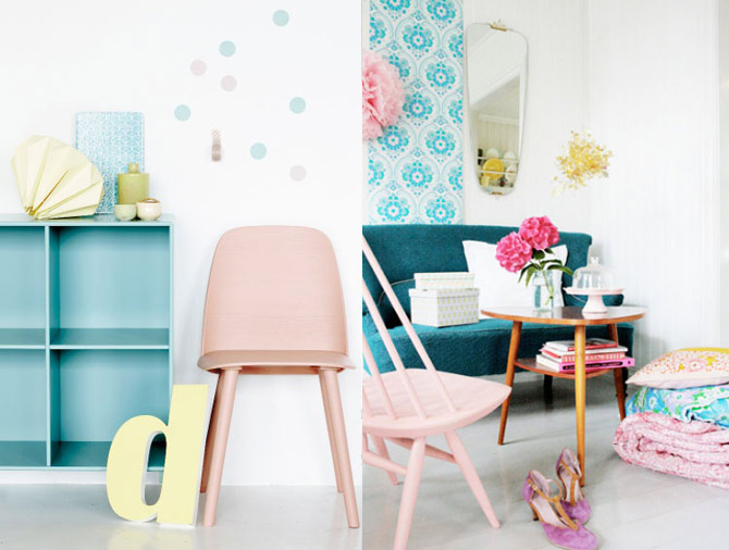 Pastel accents to brighten up your home
