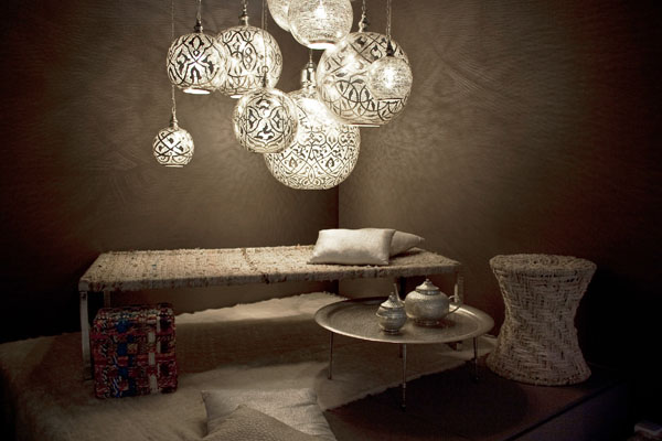 Striking and elaborately designed lighting by Zenza