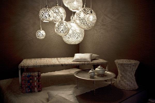 Striking and elaborately designed lighting by Zenza