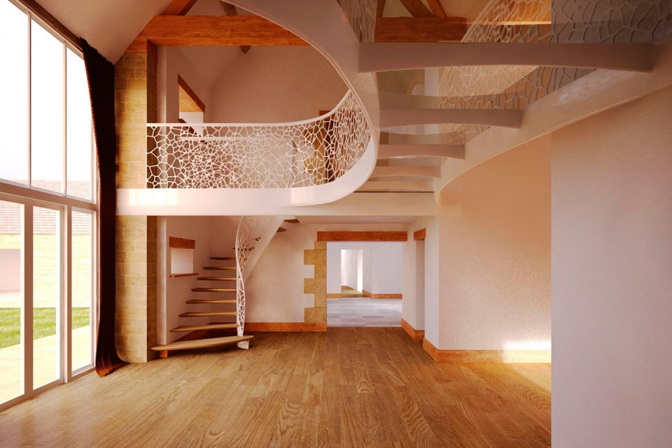 Stunning contemporary staircase in England