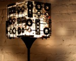 Unique lamp made from cassettes
