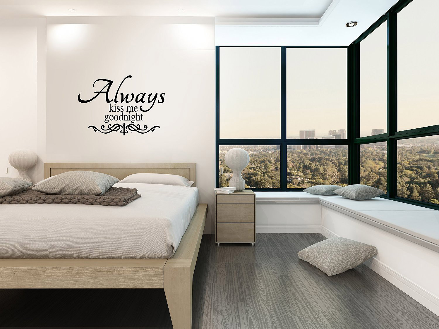 Always Kiss Me Goodnight Bedroom Wall Decal