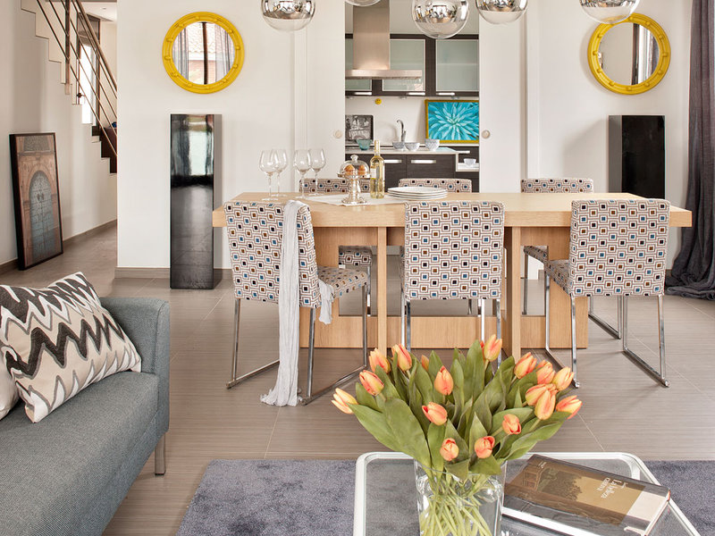 Fresh interior in a Spanish holiday home
