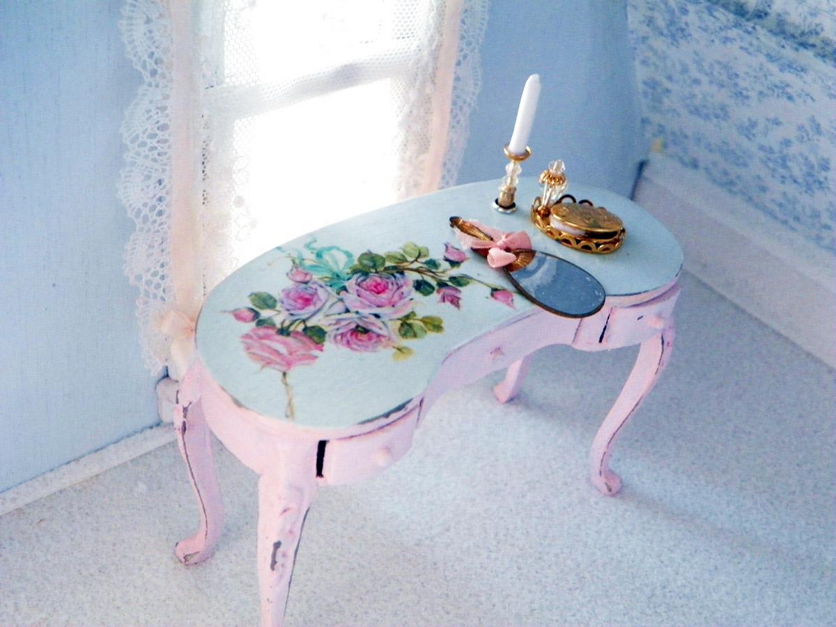 Miniature vanity table