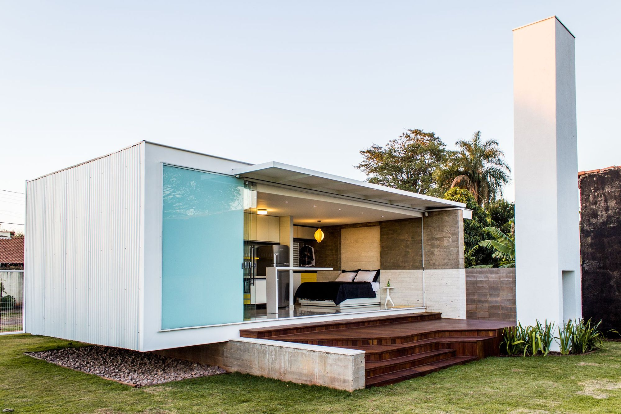 Small and contemporary metal clad home