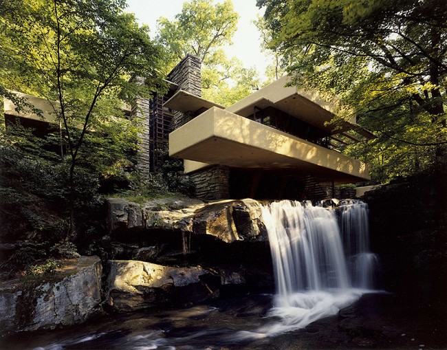Waterfall home is a work of art