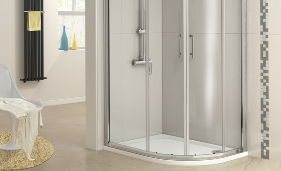 Shower enclosure in the bathroom