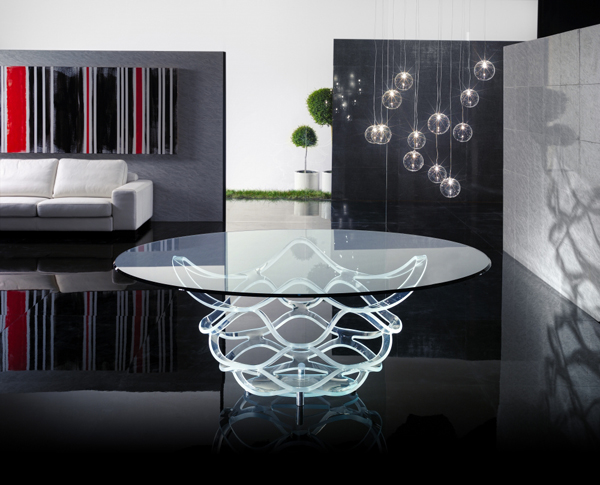 Attractive collection of glass tables
