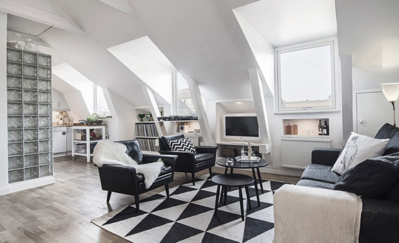 Black and White Loft to Die For
