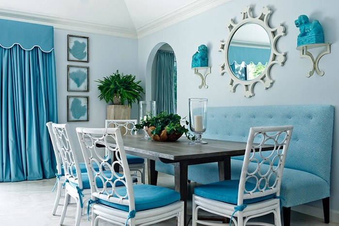 Blue interiors can liven up any home
