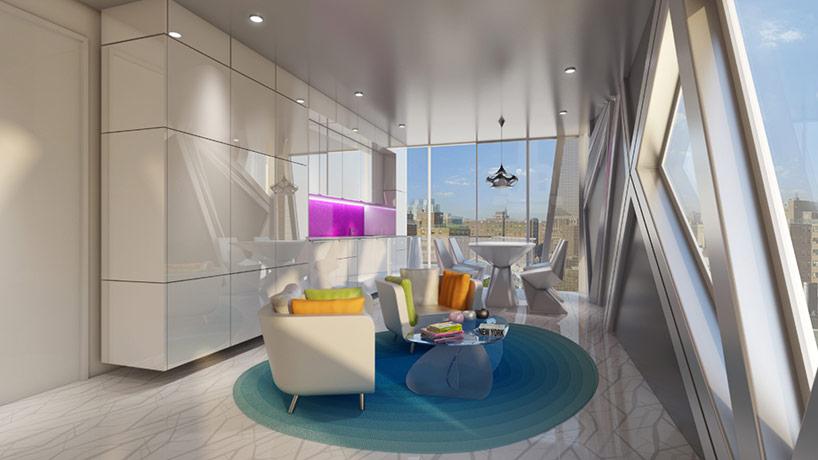 Futuristic building in Manhattan