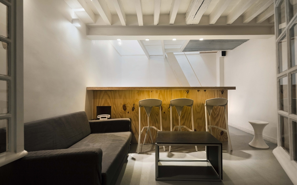 Innovative optimization of limited space in this tower apartment